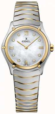 EBEL Esporte das mulheres clássico diamante mãe de pérola discar dois tons 1216388A