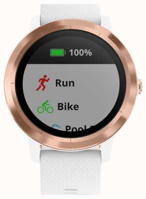 Garmin Vivoactive 3 hr multisport tracker borracha branca rosa de ouro 010-01769-05