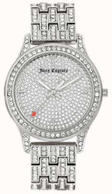 Juicy Couture Pulseira de aço inoxidável de prata para mulher JC-1045PVSV