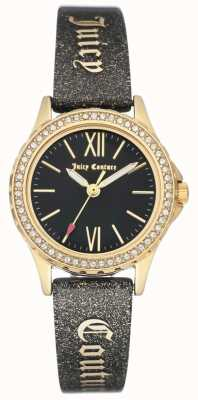 Juicy Couture Womens gold tone case alça suculenta preta JC-1068BKBK