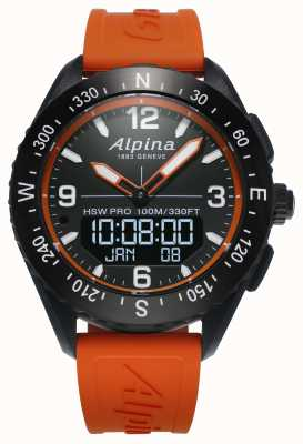 Alpina Correia de borracha laranja Alpinerx smartwatch AL-283LBO5AQ6