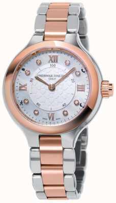 Frederique Constant Relogio smartwatch das mulheres deliciar dois tons de ouro rosa FC-281WHD3ER2B