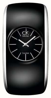Calvin Klein Relógio feminino preto brilhante K6095101