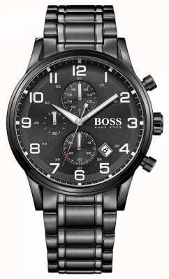 Hugo Boss Relógio de cronógrafo preto mens aeroliner 1513180