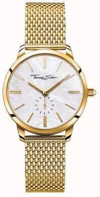 Thomas Sabo Mulheres glam espírito pulseira de malha de ouro tom branco WA0302-264-213-33