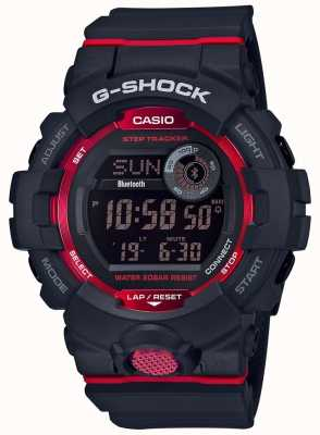 Casio Rastreador de passo bluetooth digital preto / vermelho G-squad GBD-800-1ER