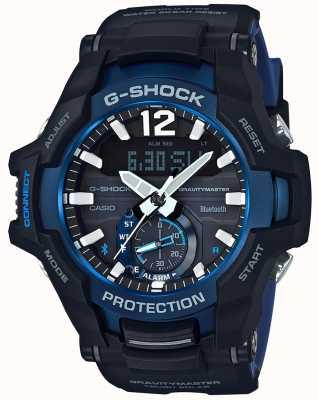 Casio G-shock gravitymaster bluetooth solar preto / borracha azul GR-B100-1A2ER