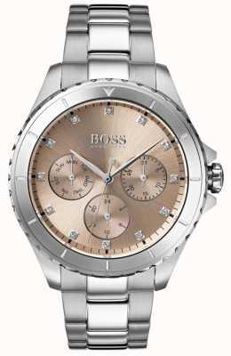 Hugo Boss Bracelete do aço inoxidável da premier do bronze do seletor das mulheres 1502444