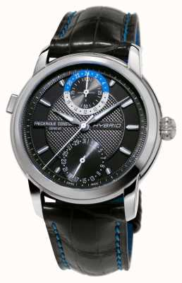 Frederique Constant Fabrico híbrido 3.0 alça preta smartwatch automática FC-750DG4H6