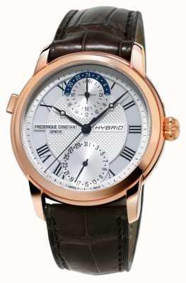 Frederique Constant Fabricação híbrida 3.0 automatic smartwatch pulseira marrom FC-750MC4H4