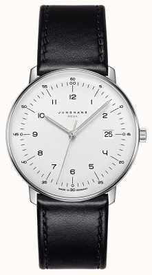 Junghans Max bill mega mf pulseira de couro preto 058/4820.00