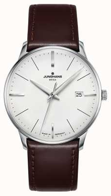 Junghans Meister mega mf pulseira de couro marrom 058/4800.00
