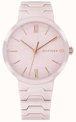 Tommy Hilfiger Womens rosa pulseira de cerâmica avery assistir 1781957