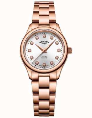 Rotary | mulheres | oxford | conjunto de diamantes | pulseira de ouro rosa | LB05096/02/D
