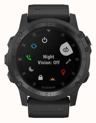 Garmin Tactix charlie aro de titânio pulseira de borracha preta 010-02085-00