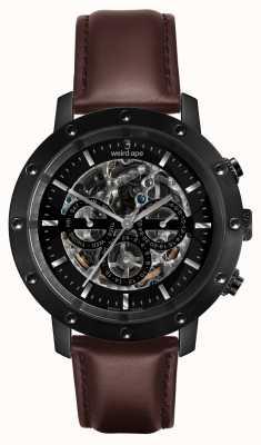 Weird Ape Icarus 3 discar toda a pulseira de couro preto / marrom WA02-005702