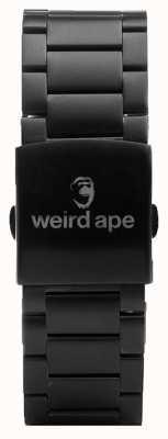 Weird Ape Pulseira preta de 20mm ST01-000002