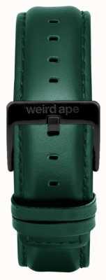 Weird Ape Couro escuro teal 20mm cinta preta fivela ST01-000075