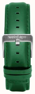 Weird Ape Bracelete em couro esmeralda 20mm apenas fivela em prata ST01-000110
