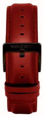 Weird Ape Fivela preta de couro vermelho com 20mm ST01-000077