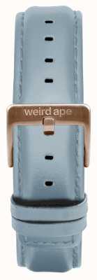 Weird Ape Fivela de couro em pó azul 16mm fivela de ouro rosa ST01-000029