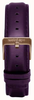 Weird Ape Fivela Purpleleather 16mm fivela de ouro rosa ST01-000036