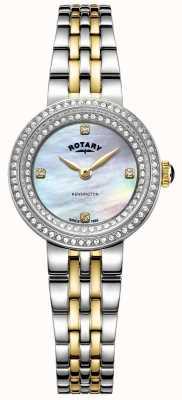 Rotary Senhoras kensington | pulseira de aço inoxidável bicolor | LB05371/41