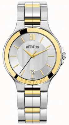 Michel Herbelin Mens newport royale dois tons de prata e pulseira de ouro 12298/BT11