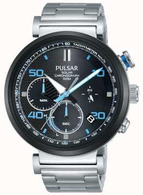 Pulsar Ex display - relógio cronógrafo solar de aço inoxidável para homem PZ5065X1-EX-DISPLAY