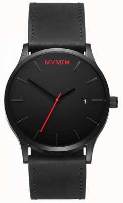 MVMT Couro preto clássico | pulseira preta | mostrador preto D-L213.5L.551