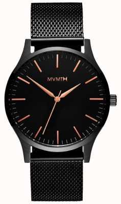 MVMT 40 séries rosa negra | malha pvd preta | mostrador preto D-MT01-BBRG