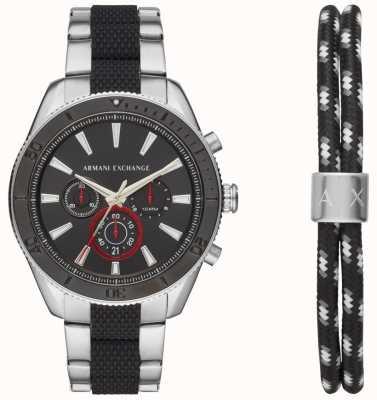 Armani Exchange Mens, enzo, desporto, cronógrafo, relógio, anúncio, pulseira, presente, jogo AX7106