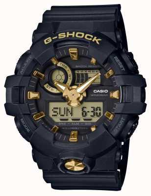 Casio G-choque analógico digital relógio de borracha de ouro GA-710B-1A9ER