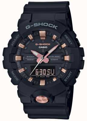 Casio G-shock analógico digital multi-funções matt black rose gold GA-810B-1A4ER