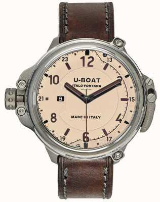 U-Boat Cápsula para homem 50 edição limitada bege 7470