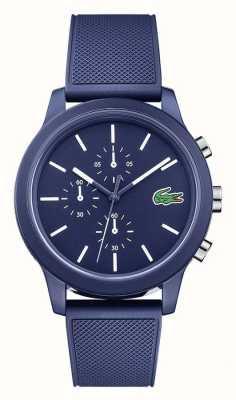 Lacoste Mens 12.12 azul silicone pulseira de discagem azul 2010970