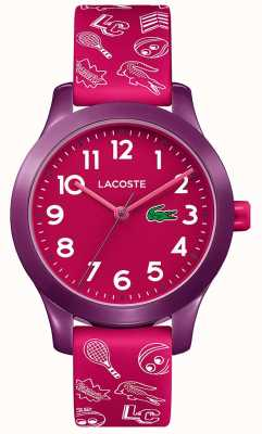 Lacoste 12.12 kids pink strap rosa de discagem 2030012