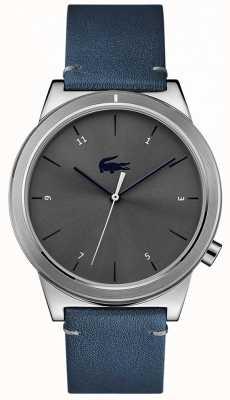 Lacoste Cinto de couro azul pulseira de movimento 2010989