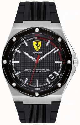 Scuderia Ferrari Mens aspire display de data de pulseira de borracha preta 0830529