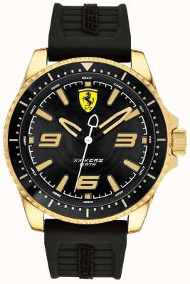 Scuderia Ferrari Mens xx kers pulseira de borracha banhado a ouro 0830485