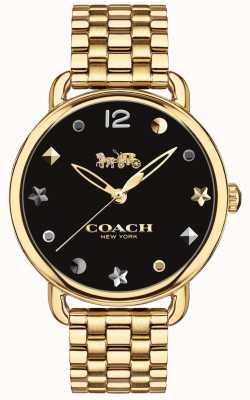 Coach Pulseira de tom dourado de relógio delancey para mulher 14502813