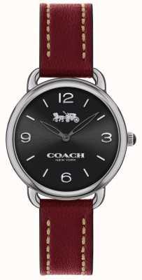 Coach Mulheres delancey slim watch pulseira de couro vermelho 14502792