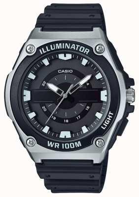 Casio Relógio de iluminador de resina preta para homem MWC-100H-1AVEF