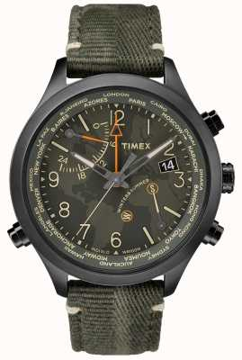 Timex Relógio de tecido Waterbury world time 43mm TW2R43200VQ