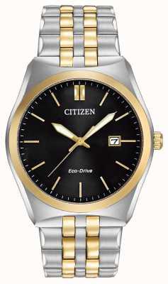 Citizen Eco-drive corso preto discar dois tons wr100 BM7334-58E