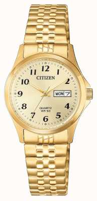 Citizen Relógio de expansão de aço inoxidável para mulher EQ2002-91P