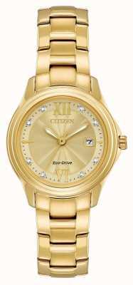 Citizen Conjunto de cristal banhado a ouro FE1132-84P