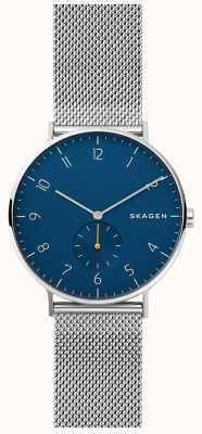 Skagen Dial mens de malha de aço inoxidável de Aaren mens SKW6468