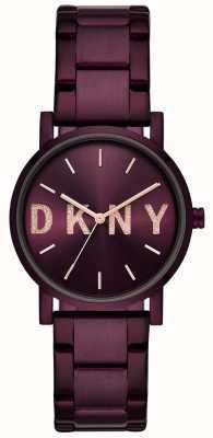 DKNY Soho mulheres roxo pvd banhado a pulseira NY2766