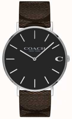Coach Relógio de discoteca rosa brilhante namorado das mulheres 1402156